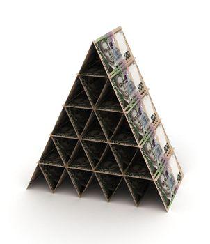 Ukrainian Hryvnia Pyramid