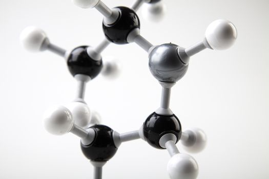 Biochemistry and atom, bright modern chemical concept