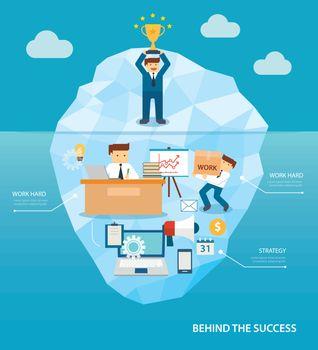 behind business success flat design