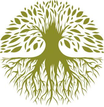 Illustration of Abstract Round Tree Logo Design
