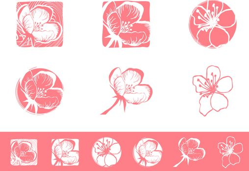 Illustration of Cherry Blossom Logo Design Collection