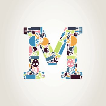 The letter made from spa. A vector illustration