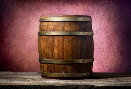 Barrel on pink background