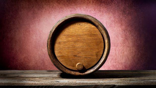Barrel on pink