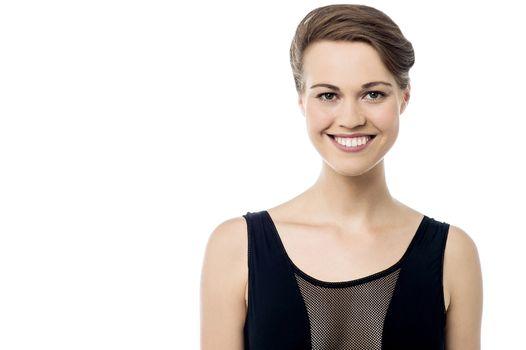 Pretty woman with a bright smile