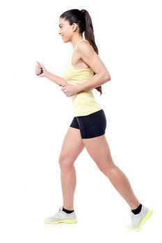 Full length of woman jogger