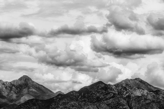 Rain Clouds Over Mountains