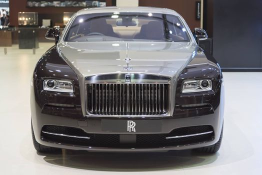 BANGKOK,THAILAND - APRIL 4 :New Classical car brand Rolls-Royce show on April 4,2015 at the 36th Bangkok international motor show in Thailand.