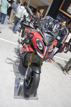 BANGKOK,THAILAND - APRIL 4 : BMW big bike  show on April 4,2015 at the 36th Bangkok international motor show in Thailand.