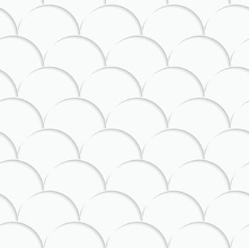 3D white overlapping half circles