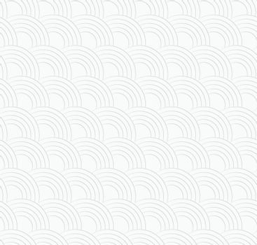 3D white textured overlapping half circles