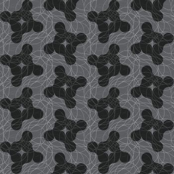 Dark gray ornament with translucent rounded shapes