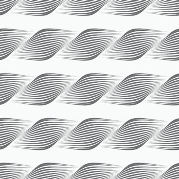 Gray ornament diagonal bulging shapes forming braid