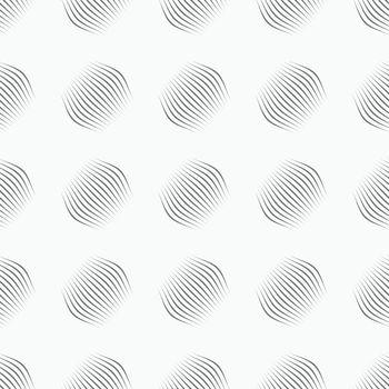 Gray ornament diagonal bulging small shapes