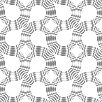 Gray ornament with offset rounded shapes