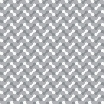 Gray shaded ornament with rounded shapes
