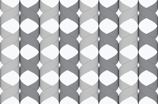 Ribbons cross overlapping pattern