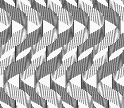 Ribbons dark and light overlapping waves pattern