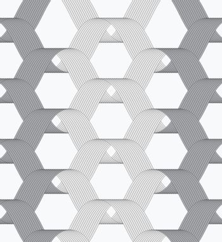 Ribbons gray shades overlapping grid pattern