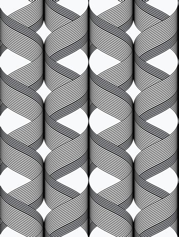 Ribbons with dark top cross overlapping pattern