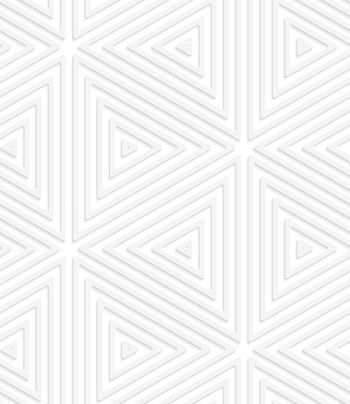 3D white perforated striped triangles