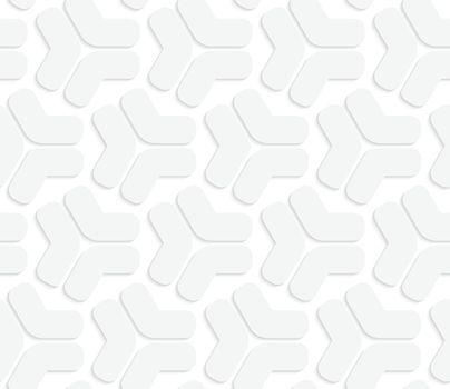 3D white rounded tetrapod shapes