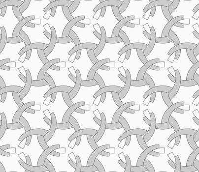 Monochrome overlapping quarter circles