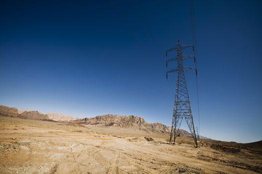 High voltage line in Iran
