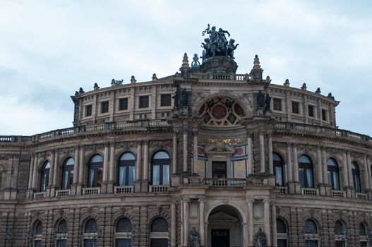 Sights of the city of Dresden. Germany. Ancient architecture.