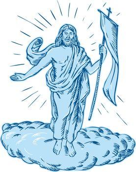 Jesus Christ Resurrection Etching