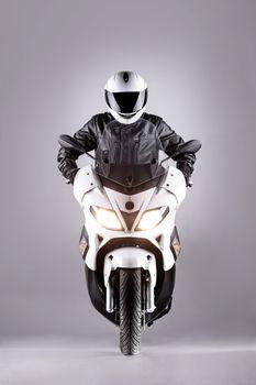 motorist on a motorcycle
