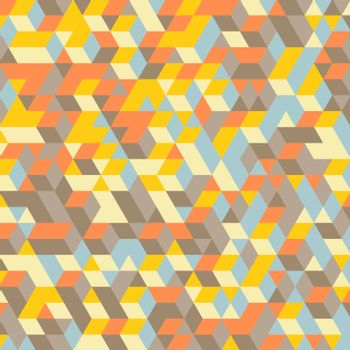 Abstract 3d background. Wall of cubes. Vector illustration. Can be used for wallpaper, web page background, web banners.