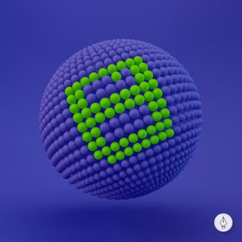 Floppy icon. Can be used as web sign, design element. Vector illustration. 3D pixel art.