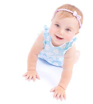 Happy joyful baby girl