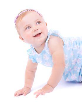 Cute joyful baby girl