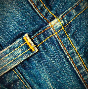 vintage blue jeans close up. instagram image retro style