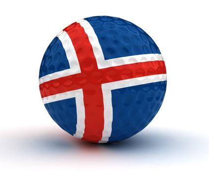 Icelandic Golf Ball (Isolated with clipping path)