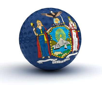 Newyork Golf Ball (Isolated with clipping path)
