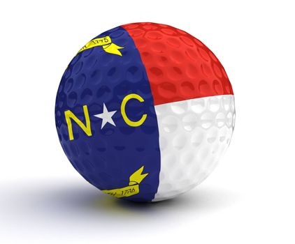 North Carolina Golf Ball (Isolated with clipping path)