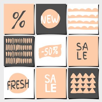 Abstract Geometric Shopping and Sales Designs