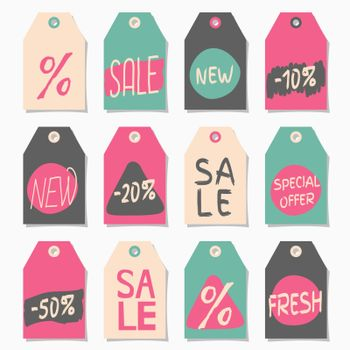 Abstract Shopping and Sales Label Designs