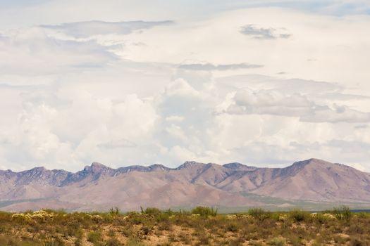 Arizona Monsoon Clouds Above Mountains