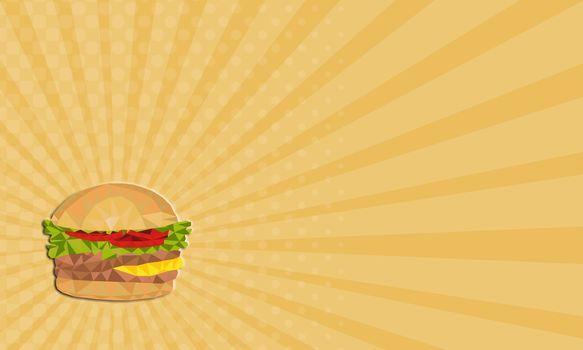 Business card Hamburger Low Polygon