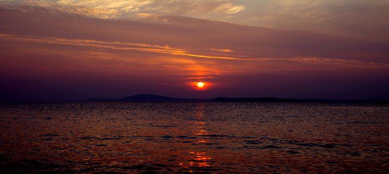 glorious red sunset on the wild atlantic way in ballybunion ireland