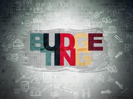 Finance concept: Budgeting on digital background