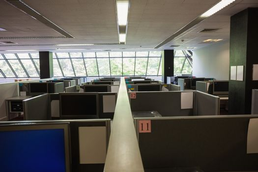 Empty office with separate units