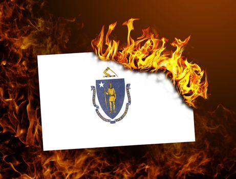 Flag burning - Massachusetts