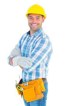 Portrait of confident manual worker