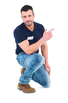 Handyman pointing