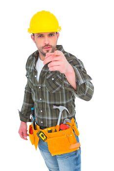 Handyman pointing at you